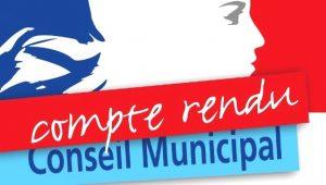 Compte rendu comseil municipal